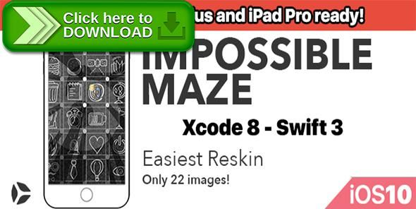 [ThemeForest]Free nulled download Impossible Maze – One Hour Reskin - iOS10 and Swift 3 ready from http://zippyfile.download/f.php?id=46115 Tags: ecommerce, addicting, admob, app template, best code, cheap, fastest reskin, in app purchases, iOS 10, ipad pro, iphone7, iphone7 plus, level system, no ads, rebeloper, swift3