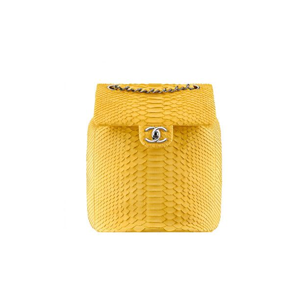 Boy CHANEL flap bag ❤ liked on Polyvore featuring bags, handbags, chanel, rucksack bag, chanel backpack, knapsack bags, yellow bag and yellow rucksack