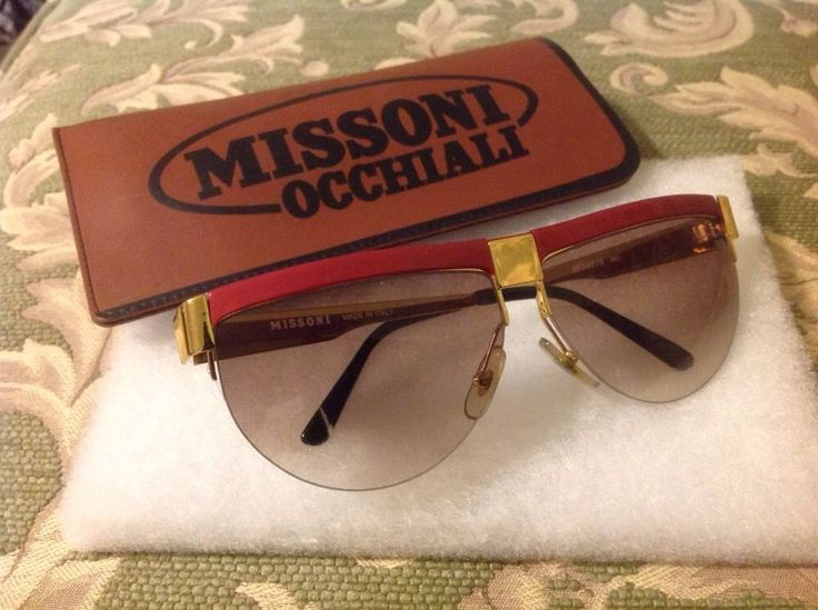 Vintage Missoni Sunglasses M187/S with Case #MissoniOcchiali