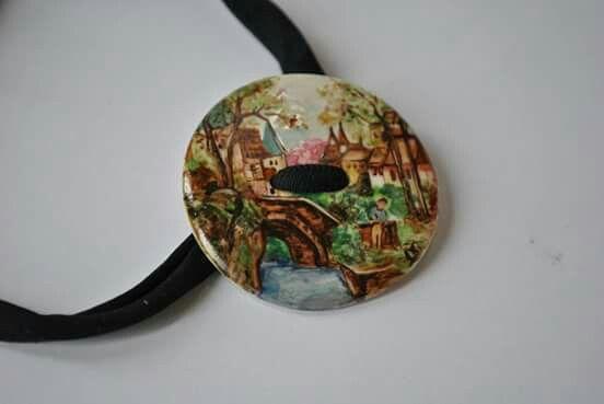 Bracciale dipinto a mano   hand-painted bracelet