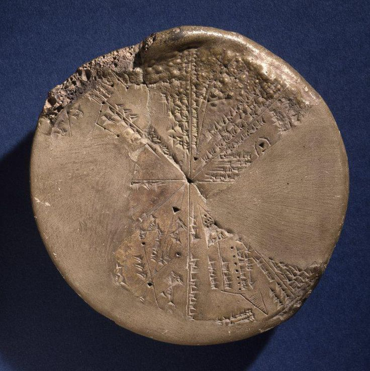 Mapa del cielo nocturno sobre la ciudad de Nínive, el 3 de enero de 650 aC http://bit.ly/1AtrGTA  v @coreyspowell