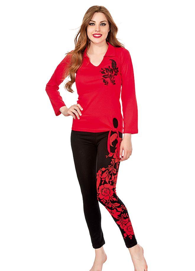 Loreana Likralı Yakalı Taytlı Takım Online Satın Al | Loreana Pijama & İç Giyim | Markafoni