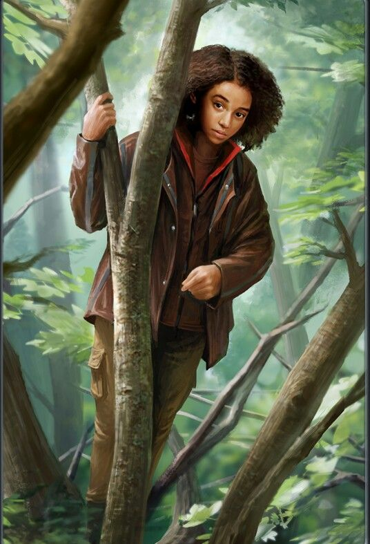 This is a picture of Rue from The Hunger Games. In the movie, she is quiet and younger than those around her. She depends on Katniss to take care of her just like Ruth depends on Isabel.