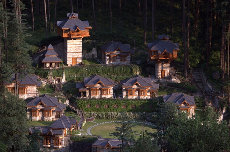 Breathtaking. Himalayan Village: A Charming Mountain Resort Made of Local Materials in Northern India