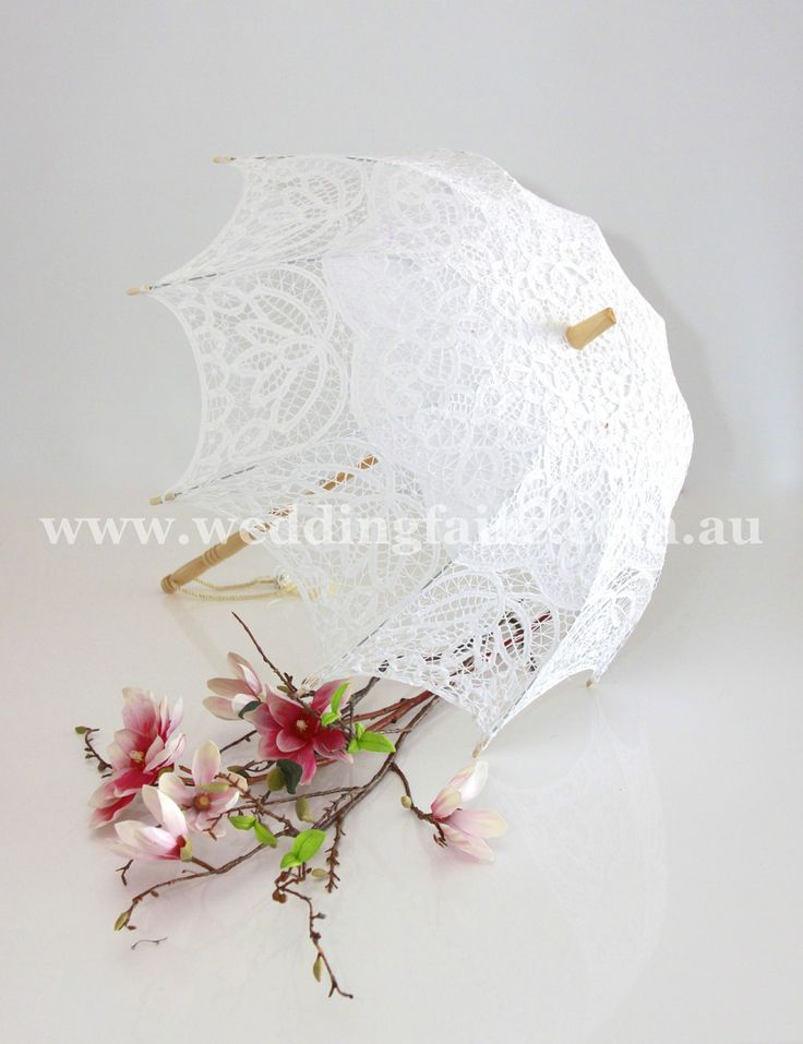Childs Classic Lace Parasol - White - The Wedding Faire