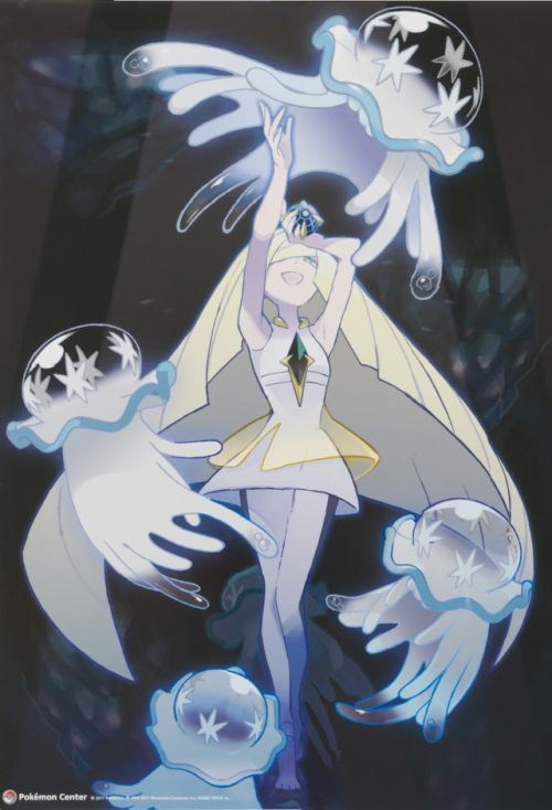 """rnissile:  """""""" New Official artwork of Lusamine & Nihilego from the new Pokémon Center merchandise line  """" """""""