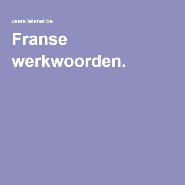 Franse werkwoorden.