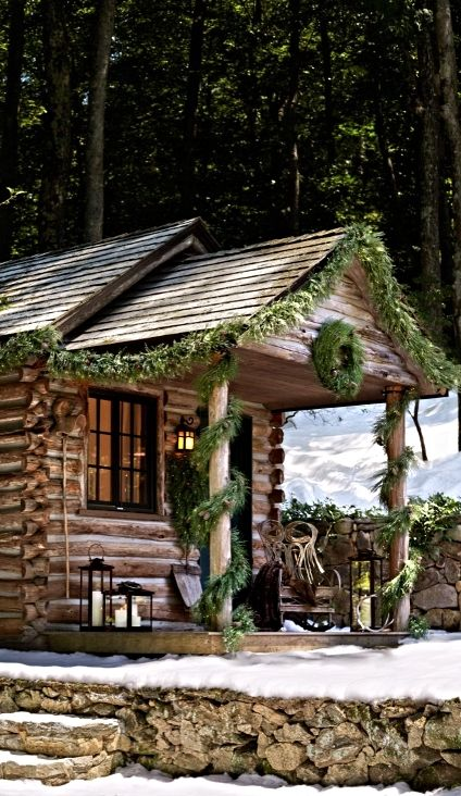 1000 ideas about cabin christmas on pinterest cabin for Country cabin christmas