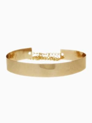 The perfect finishing touch to any outfit. Metallic Golden Belt from choies.com