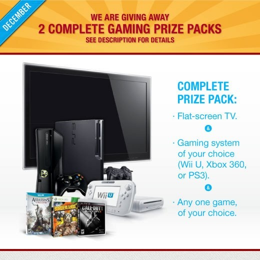 Refer a student using your referral code before Christmas and you could win a complete gaming prize pack for you and a student you refer.     http://www.facebook.com/photo.php?fbid=528545273842008=a.302216469808224.84260.296600410369830=1