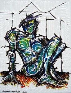 """Hatching"", Mixed Medium on Canvas, W: 305mm x H: 405mm, W: 12"" x H: 16"""