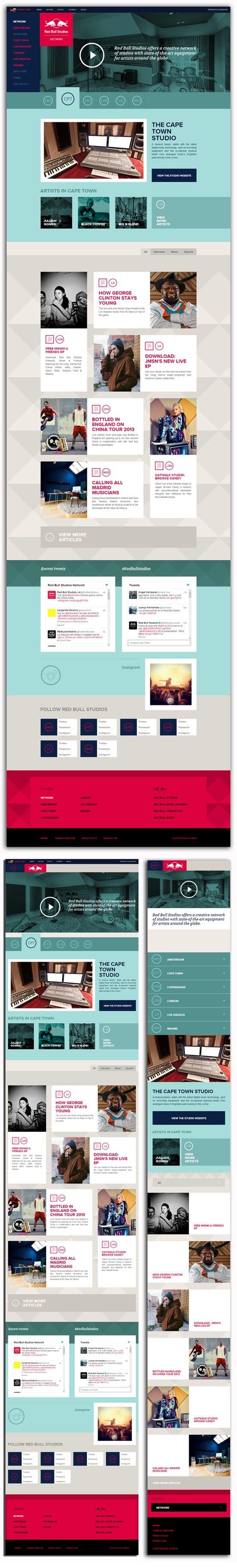 redbullstudios.com   WOW!! Diseño: 5, Responsive 5, Navegación: 5 Contenido: 5 Usabilidad: 5, Scroll: 5
