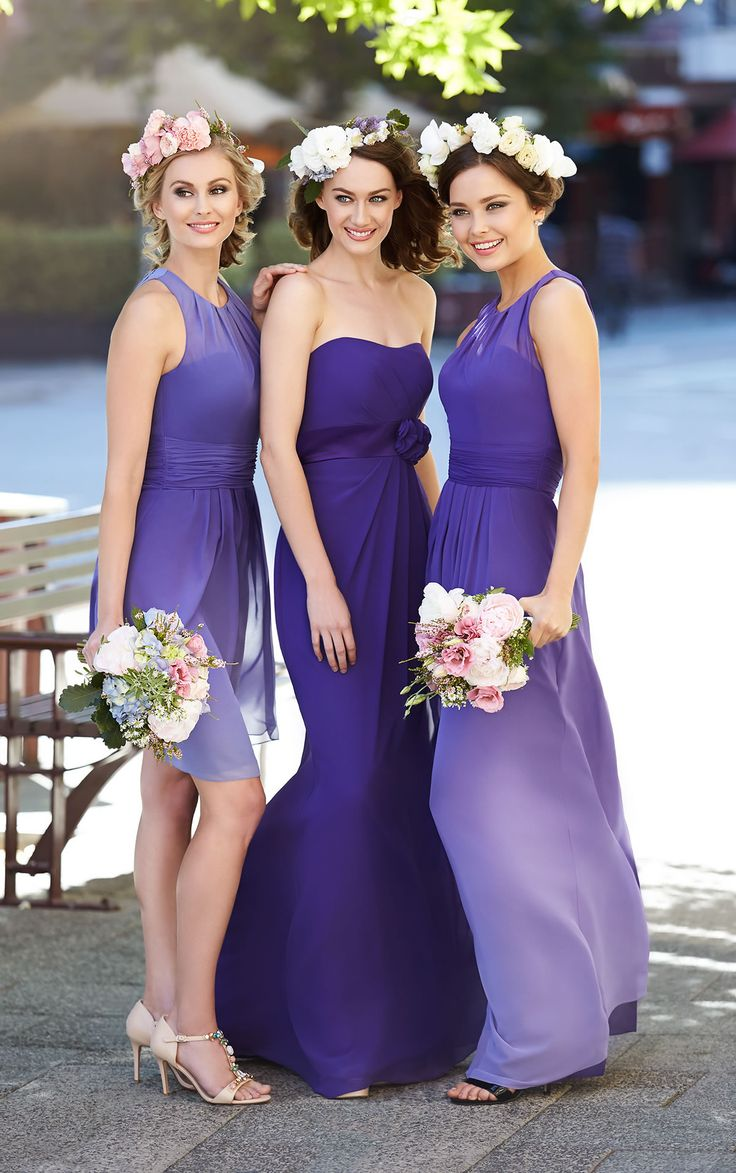 105 best Bridesmaids images on Pinterest | Short wedding gowns ...