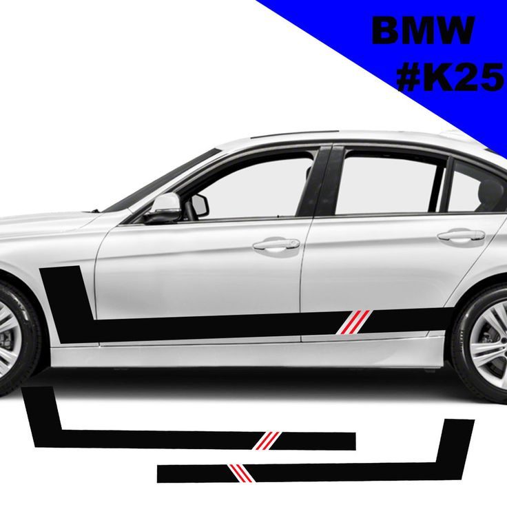 Sports Side Car Stripes Decal Car Graphics Car Stickers For BMW Racing Stripes
