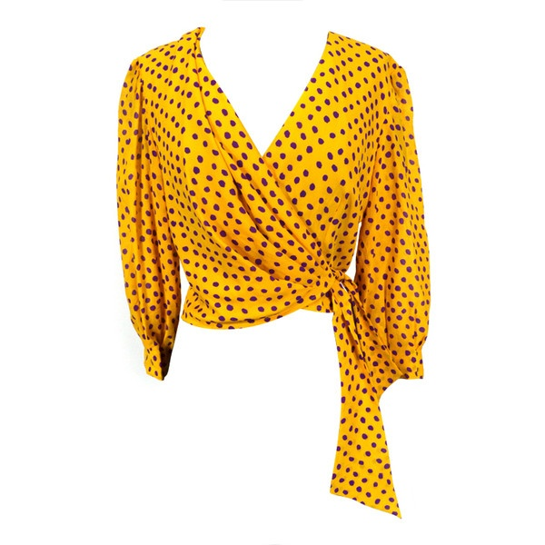 Ungaro silk blouse found on Polyvore