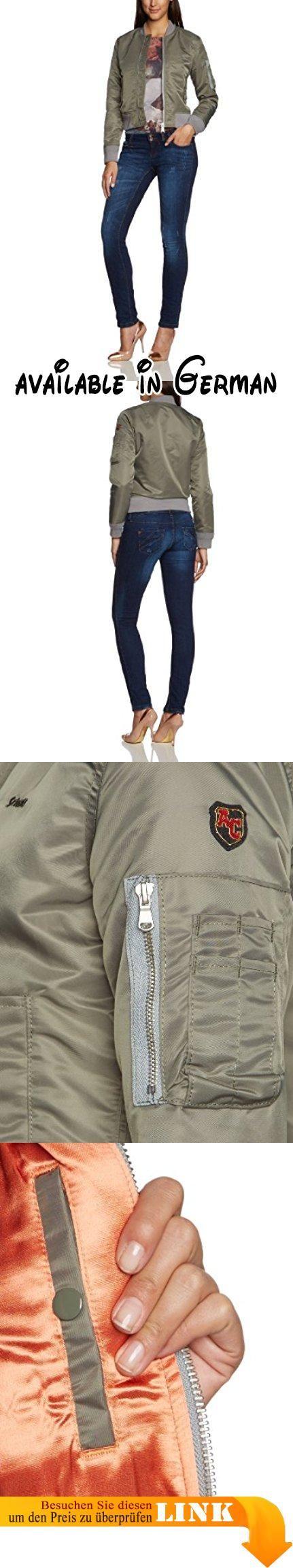 Schott NYC Damen Blouson Jacke JKTACW, Gr. 42 (Herstellergröße: XL), Grün (khaki 14). Stil: Blouson #Apparel #OUTERWEAR