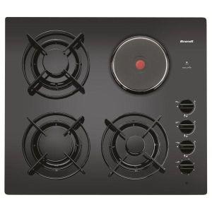 BRANDT - TG1213B _ Table de cuisson mixte - 1 plaque électrique avec limiteur 1,5 kW + 3 brûleurs gaz dont 1 foyer rapide 3 kW - Allumage intégré aux manettes - Sécurité par thermocouples - Grilles mono-foyer émaillées.