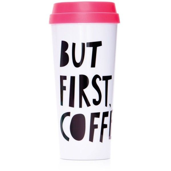 ban.do Hot Stuff But First, Coffee Thermal Mug found on Polyvore featuring home, kitchen & dining, drinkware, multi and thermal coffee mugs