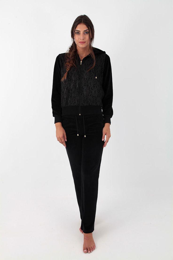 Claire Katrania Φόρμα Βελούδο Μαύρο C-8620
