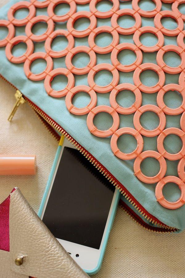 Fabric Paper Glue | DIY #ModMelts Embellished Clutch