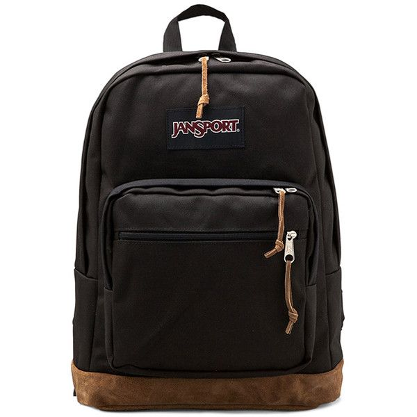 Jansport Right Pack Backpack Handbags ($58) ❤ liked on Polyvore featuring bags, backpacks, accessories, black, jansport daypack, black laptop bag, laptop backpacks, backpacks bags and knapsack bags