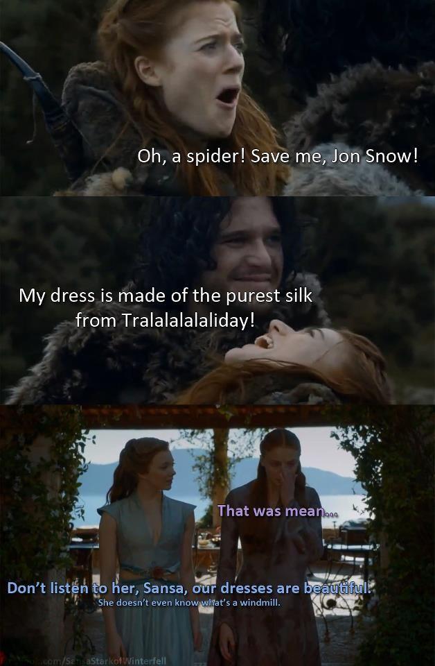 Igritte & John Snow / Margaery & Sansa