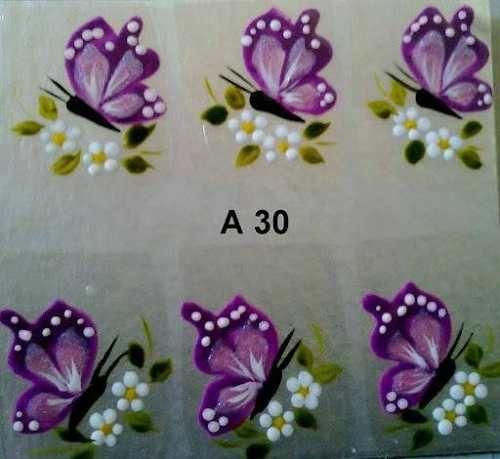 Adesivos De Unha Feito Á Mão Artesanal 5 Cartelas 15,00