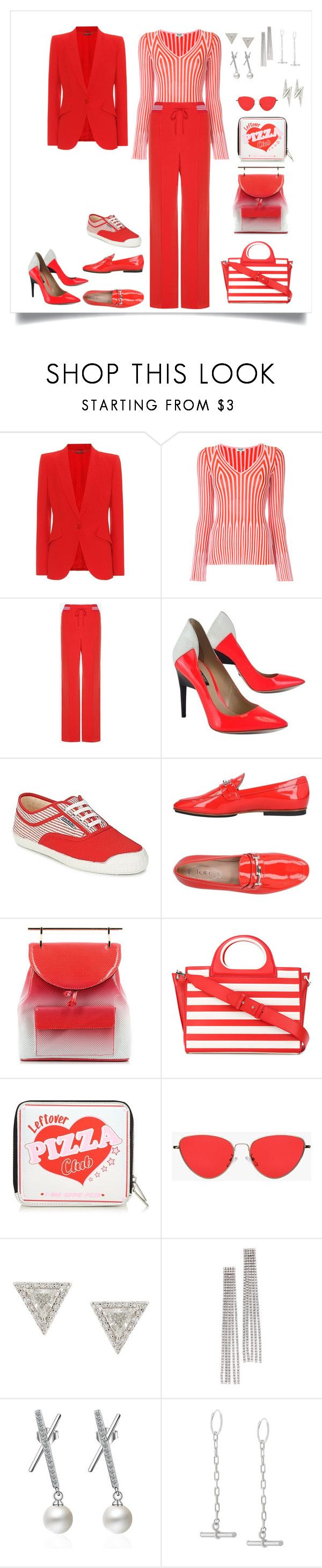 """""""Total Look: Red #2"""" by guselmanchik ❤ liked on Polyvore featuring Alexander McQueen, Kenzo, Valentino, Ruthie Davis, Kawasaki, Tod's, M2Malletier, MaxMara, Lizzie Mandler and Marc Jacobs"""