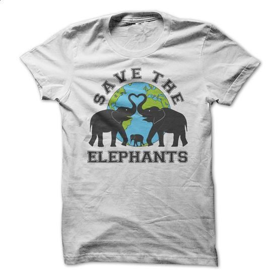 Save The Elephants - #cool shirts #shirts for men. GET YOURS => https://www.sunfrog.com/LifeStyle/Save-The-Elephants-38025610-Guys.html?id=60505