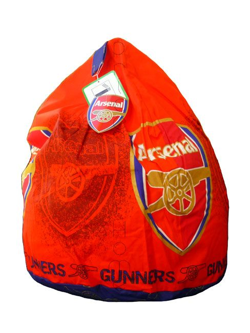 Arsenal FC Bean Bag is delivered to you fully filled, Measures approximately 3 cubic feet, cotton cover filled with flame retardant polystyrene beads, with Zip opening