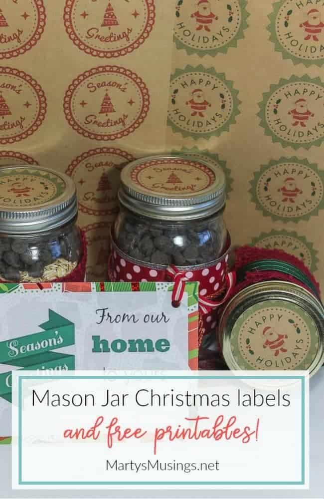 These Christmas Mason Jar Labels And Tags Will Be Perfect For The Homemade Gift In A Jar For In 2020 Mason Jars Labels Christmas Mason Jar Labels Mason Jar Printables