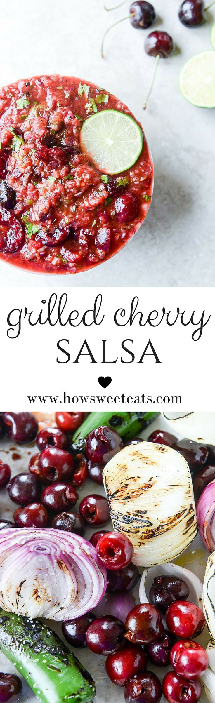 grilled cherry salsa I howsweeteats.com