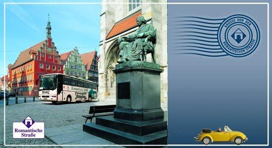 Romantische Straße ロマンチック街道絵はがき。|Grußkarte: Romantische Straße