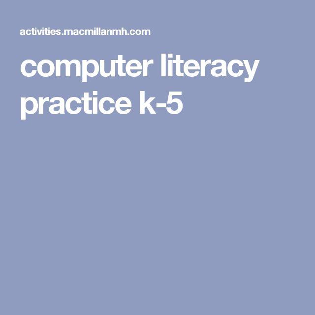 computer literacy practice k-5