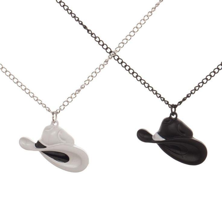 WestWorld Necklace Set - Black Hat White Hat HBO TV Show West World Best Friends #Bioworld #Chain