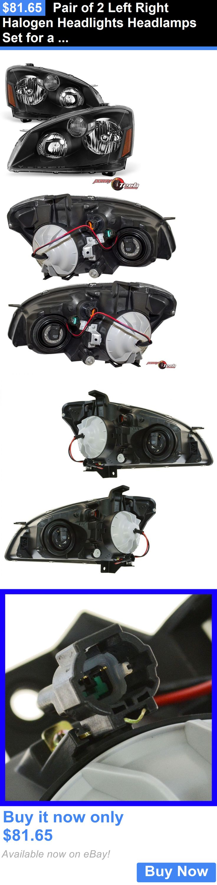 auto parts - general: Pair Of 2 Left Right Halogen Headlights Headlamps Set For A 05-06 Nissan Altima BUY IT NOW ONLY: $81.65