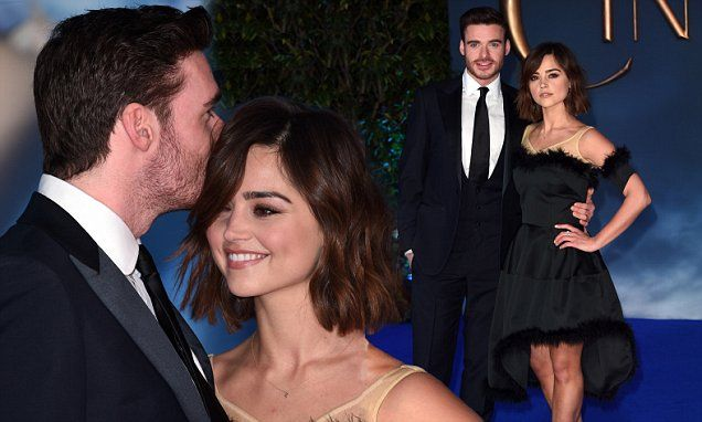 The cute acting couple, who have been together since 2011, looked utterly besotted on the red carpet on Thursday night as they attended the London premiere of Cinderella in Leicester Square.
