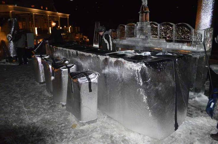 What's underneath these InfraStop® covers? An outdoor bar made entirely of ice. A rather unusual application for our foil insulation! http://www.insulationstop.com/radiant-barrier-blog/infrastop-insulation-in-action-protecting-ice-bars-at-exclusive-resorts/