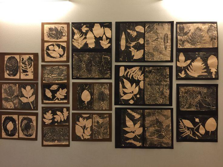 Gelatine leaf prints.