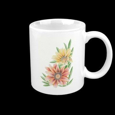 Gazania flower mugs