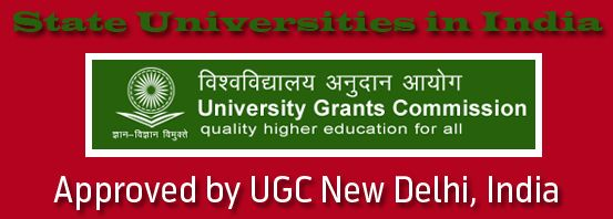 State Universities in India (UGC Approved) » Digital Study Center