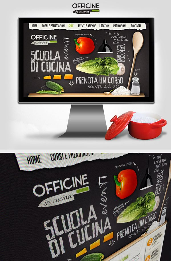 Officine in Cucina - Web interface Design by Gaia Zuccaro, via Behance