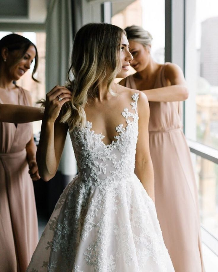 "1,540 Likes, 37 Comments - Erin & Tara (@erinandtara) on Instagram: ""Gown goals  #voguebride #erinandtara #melbournewedding"""