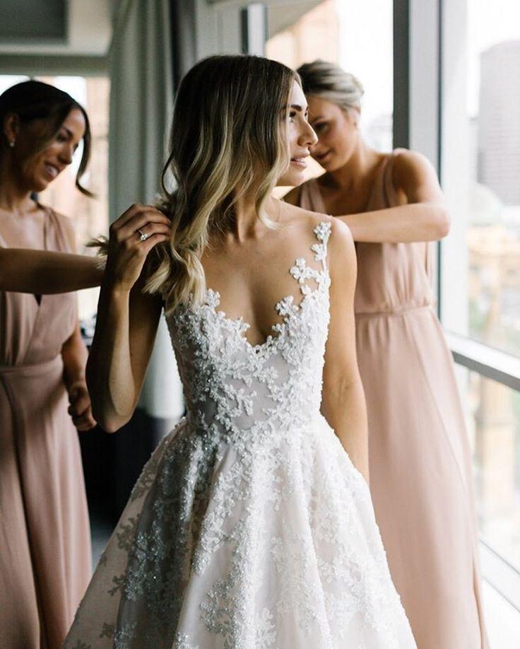 "1,540 Likes, 37 Comments - Erin & Tara (@erinandtara) on Instagram: ""Gown goals  #voguebride #erinandtara #melbournewedding"""