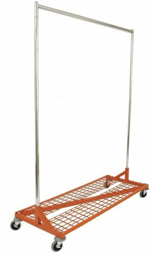 heavy duty rolling rack with shelf display store rack commercial clothing rack
