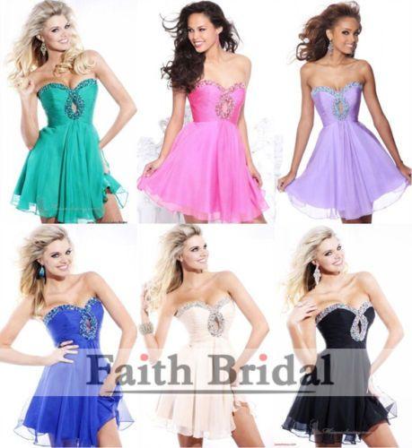 Mini-Prom-dress-cocktail-party-short-homecoming-Ball-Wedding-Bridesmaid-Formal