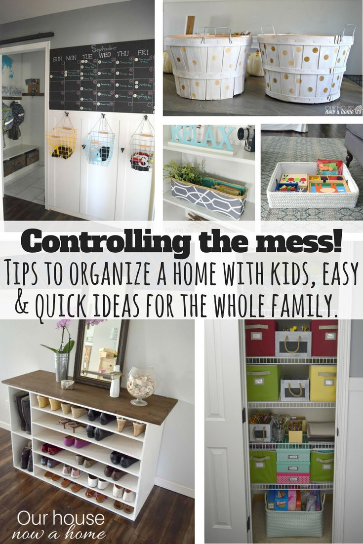 Easy tips & DIY ideas to keep the whole family organized without compromising on the style and decor of your home. How to keep a home stylish, pretty, functional and organized. Kid friendly cleaning ideas, furniture storage, upcycles and more!