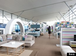 IKEA | Leave it to the Swedish home design giant to make a delayed flight more fun | IKEA has set up a temporary lounge in Paris' Roissy-Charles de Gaulle Airport