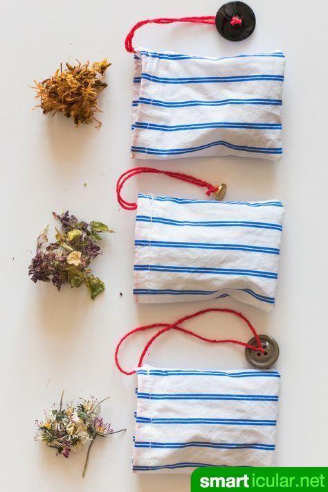 Einmal-Teebeutel adé – wiederverwendbare Teebeutel aus Stoff selber nähen
