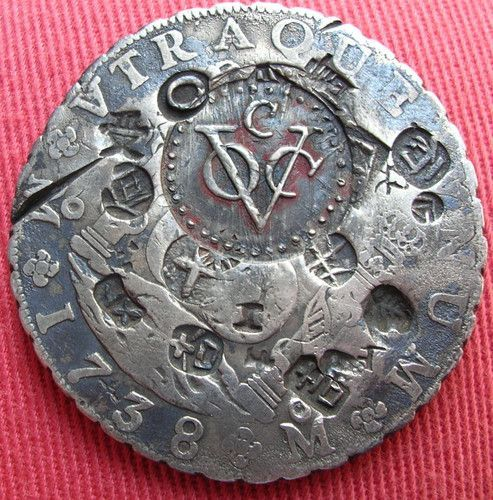 "One of the world's most storied coins is the Spanish real, which was Spain's denomination at the height of the nation's dominance as a world power in the 16th century. Silver eight-real coins were worth one Spanish dollar, and were the source of the phrase ""pieces of eight,"" which has been associated with pirates and ill-gotten treasure since 1883:"